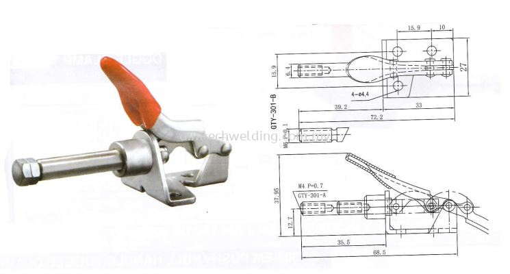 GH301 - AM PUSH/PULL HANDLE TOGGLE CLAMP