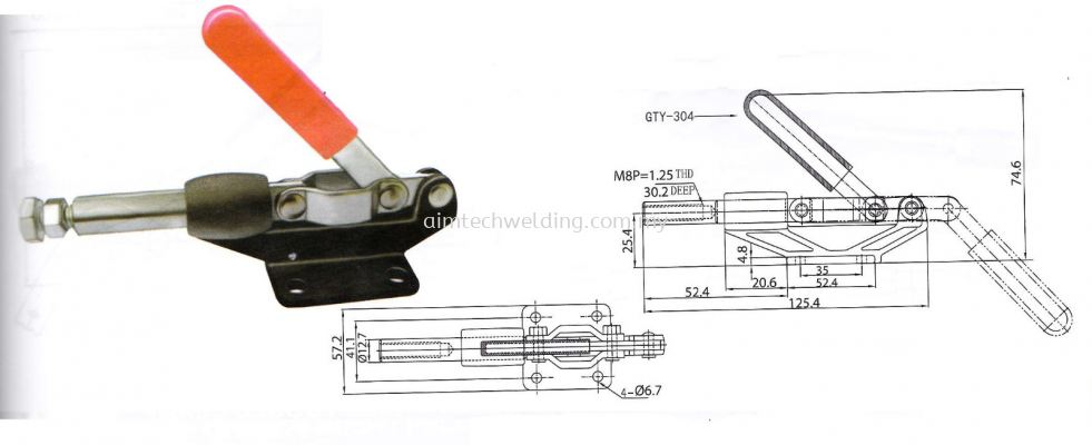 GH304 - CM PUSH/PULL HANDLE TOGGLE CLAMP