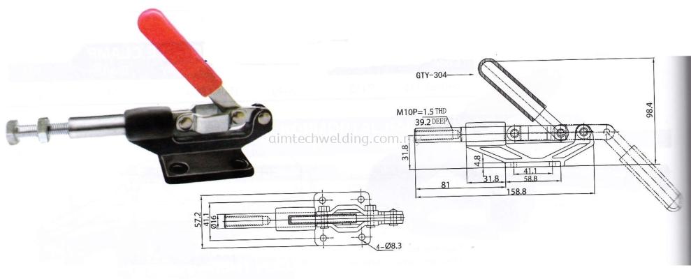 GH304 - EM PUSH/PULL HANDLE TOGGLE CLAMP