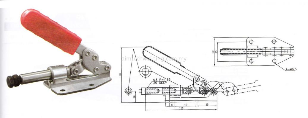 GH36020 PUSH / PULL HANDLE TOGGLE CLAMP
