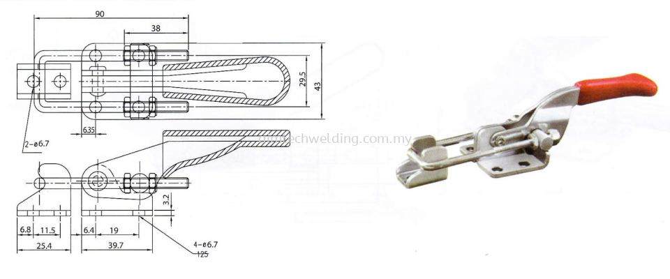 GH431 LATCH TYPE TOGGLE CLAMP