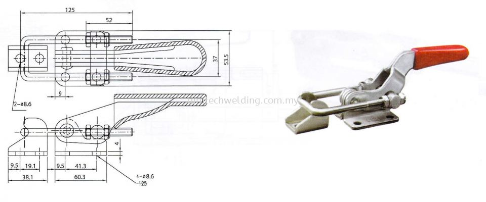 GH40341 LATCH TYPE TOGGLE CLAMP