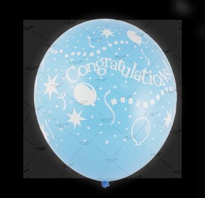 12''Congratulations - Light Sky Blue