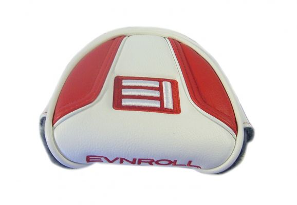 NEW Evnroll Red/White Magnetic Mallet Putter Headcover
