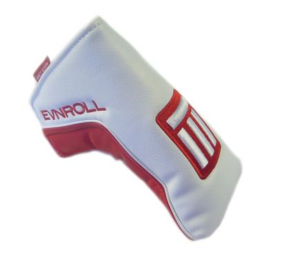 NEW Evnroll Red/White Magnetic Blade Putter Headcover