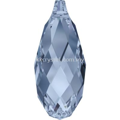 Swarovski 6010 Briolette Pendants, 11x5.5mm, Denim Blue (266), 2pcs/pack (BUY 1 FREE 1)