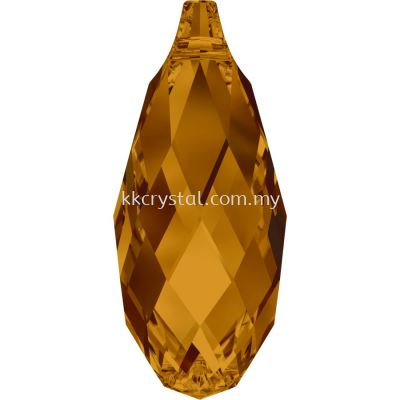 Swarovski 6010 Briolette Pendants, 11x5.5mm, Crystal Copper (001 COP), 2pcs/pack (BUY 1 FREE 1)