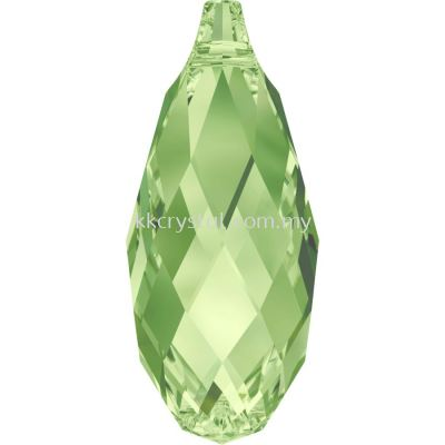Swarovski 6010 Briolette Pendants, 11x5.5mm, Peridot (214), 2pcs/pack (BUY 1 FREE 1)