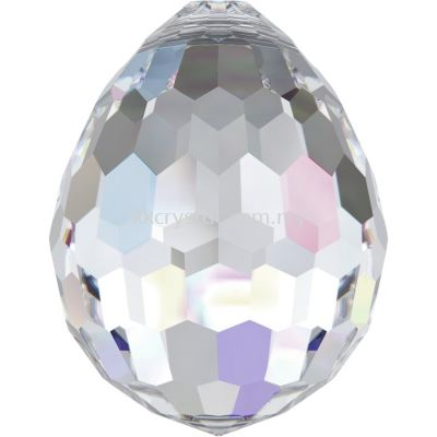 Swarovski 6002 Oval Disco Pendant, 10x7mm, Crystal AB (001 AB), 1pcs/pack