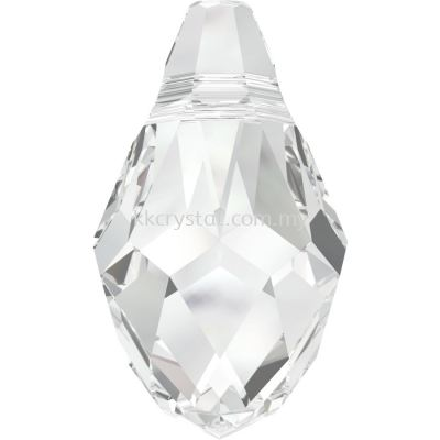 Swarovski 6007 Small Briolette Pendant, 7x4mm, Crystal (001), 2pcs/pack