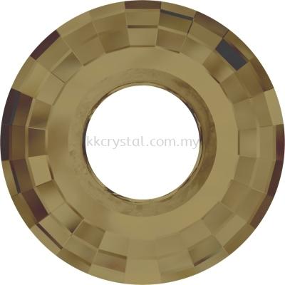 Swarovski 6039 Disk Pendant, 38mm, Crystal Bronze Shade (001 BRSH), 1pcs/pack