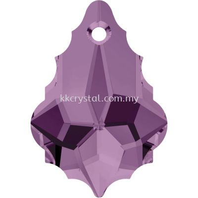 Swarovski 6090 Baroque Pendant, 22x15mm, Light Amethyst (212), 1pcs/pack