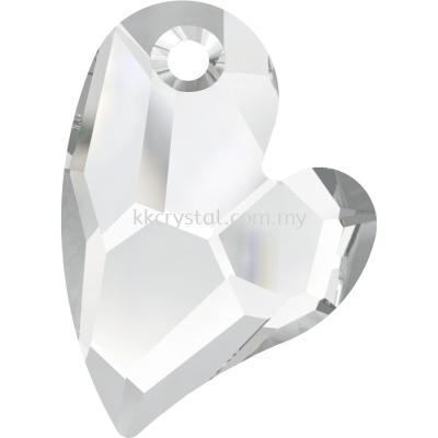 Swarovski 6261 Devoted 2 U Heart Pendant, 36mm, Crystal (001), 1pcs/pack