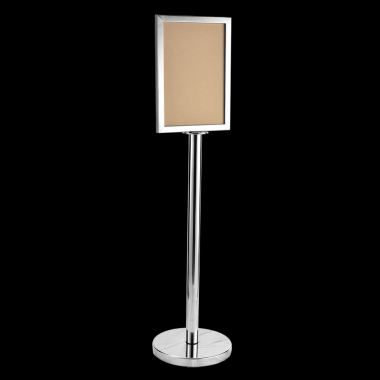 17136-A3 Sign Stand-S. Steel-Vertical
