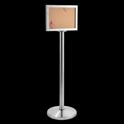 17132-A4 S. Steel Sign Stand