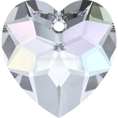 6215 Swarovski Fancy Heart Pendants, 18mm, Crystal AB (001 AB), 1pcs/pack