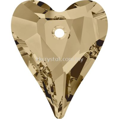 Swarovski 6240 Wild Heart Pendant, 17mm, Crystal Golden Shadow (001 GSHA), 1pcs/pack