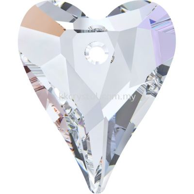 Swarovski 6240 Wild Heart Pendant, 17mm, Crystal AB (001 AB), 1pcs/pack