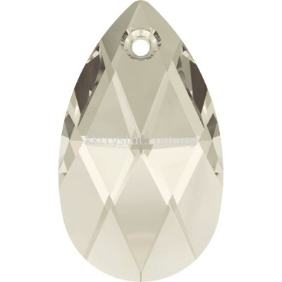 Swarovski 6106 Pear Pendant, 28mm, Crystal Silver Shade (001 SSHA), 1pcs/pack