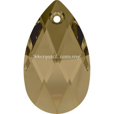 Swarovski 6106 Pear Pendant, 22mm, Crystal Bronze Shade (001 BRSH), 1pcs/pack