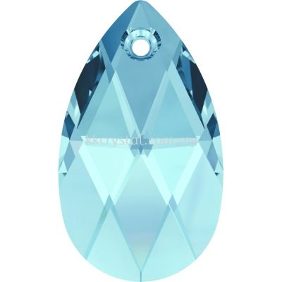 Swarovski 6106 Pear Pendant, 16mm, Aquamarine (202), 1pcs/pack