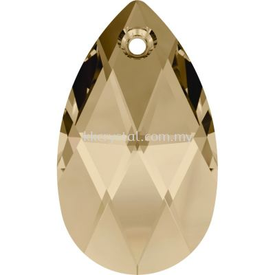 Swarovski 6106 Pear Pendant, 16mm, Crystal Golden Shadow (001 GSHA), 1pcs/pack