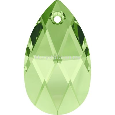 Swarovski 6106 Pear Pendant, 16mm, Peridot (214), 1pcs/pack