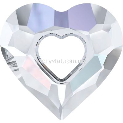 Swarovski 6262 Miss U Heart Pendant, 26mm, Crystal AB (001 AB), 1pcs/pack