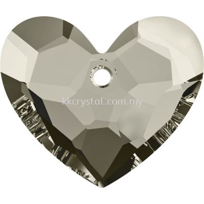 Swarovski 6264 Truly In Love Heart, 18mm, Crystal Satin (001 SATIN), 1pcs/pack