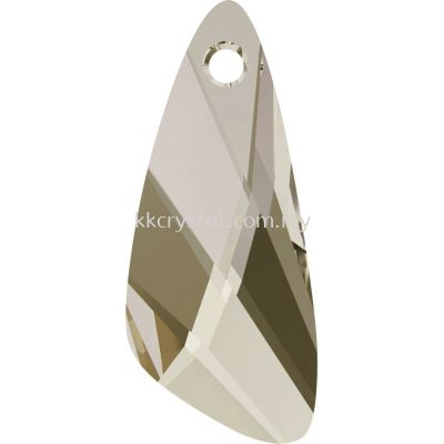 Swarovski 6690 Wing Pendant, 27mm, Crystal Silver Shade (001 SSHA), 1pcs/pack