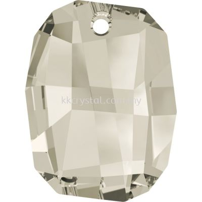 Swarovski 6685 Graphic Pendant, 28mm, Crystal Silver Shade (001 SSHA), 1pcs/pack