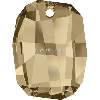 Swarovski 6685 Graphic Pendant, 28mm, Crystal Golden Shadow (001 GSHA), 1pcs/pack