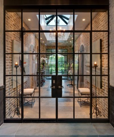 Metal Glass Door
