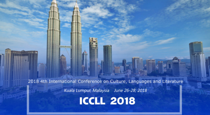 2018 4th International Conference on Culture, Languages and Literature (ICCLL 2018)