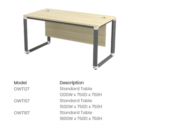 OWT127 Standard Table