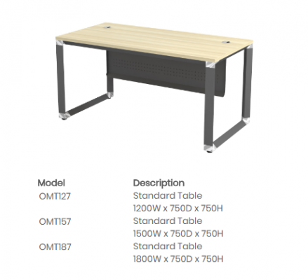 OMT127 Standard Table