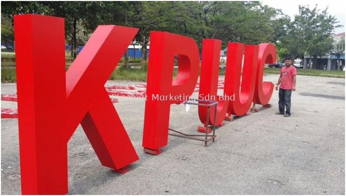 Aluminium Box Up Lettering Alphabet Sign