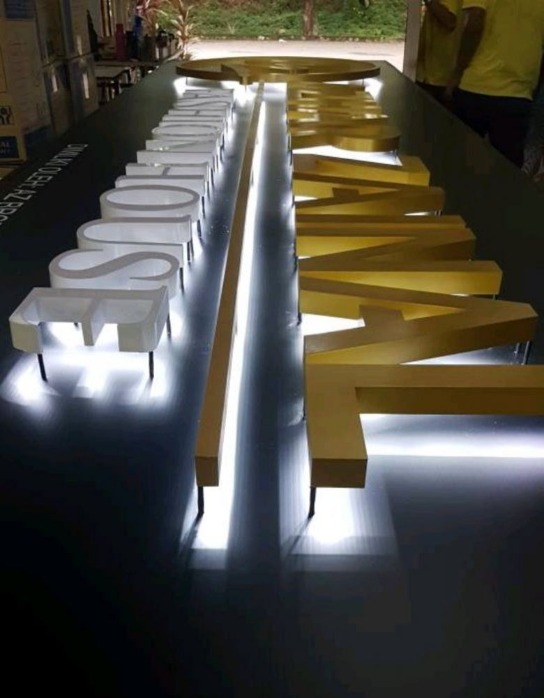 Stainless steel Backlit signage