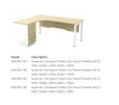 SWL552-4D Superior Compact Table C/w Fixed Pedesta 4D (L)