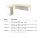 SML552-3D Superior Compact Table C/w Fixed Pedesta 2D1F (L)