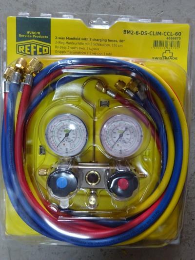 Refco BM2-6-DS-CLIM-CCL-60 (c/w Hoses 5' 5 pcs) Manifold Set (R22/407C/410A)