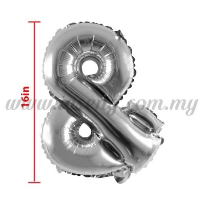 16inch Foil Balloon & - Silver (FB-16-&S)