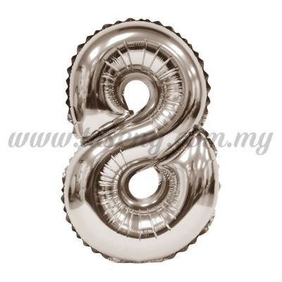 16inch Foil Balloon Number 8 - Rose Gold (FB-16-8RG)