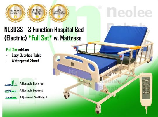 NL303D [Full Set] Hospital Bed 3 Function (Electric)