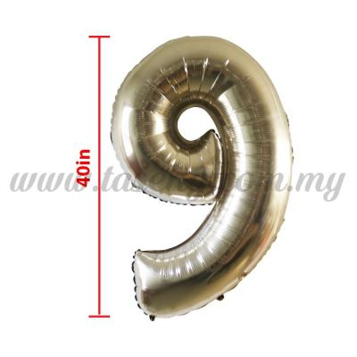 40inch Foil Balloon Number 9 - Rose Gold (FB-40-9RG)
