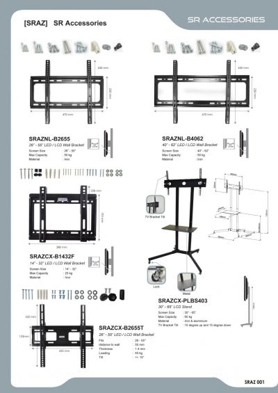 Bracket, Rack & Table