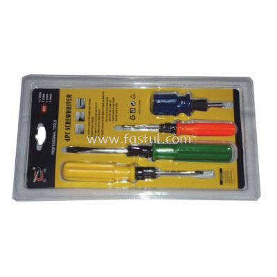4PCS CR-V 2 WAY SCREW DRIVER