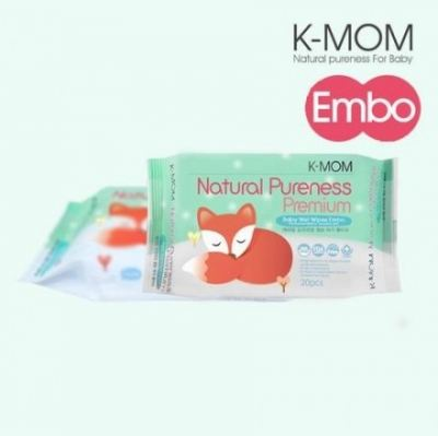 K-MOM WET TISSUE PREMIUM ENBO POCKET 20'S