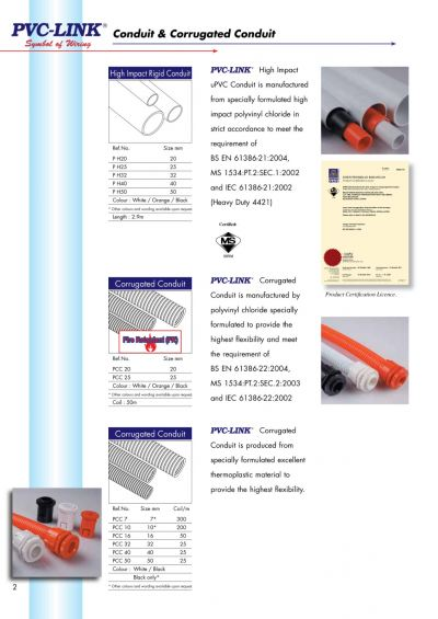 Pvc-Link Conduit & Corrugated Conduit