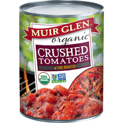MUIR GLEN-CRUSHED TOMATOES-FIRE ROASTED-793G